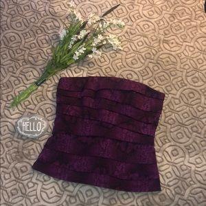 White House Black Market purple snake-like Top